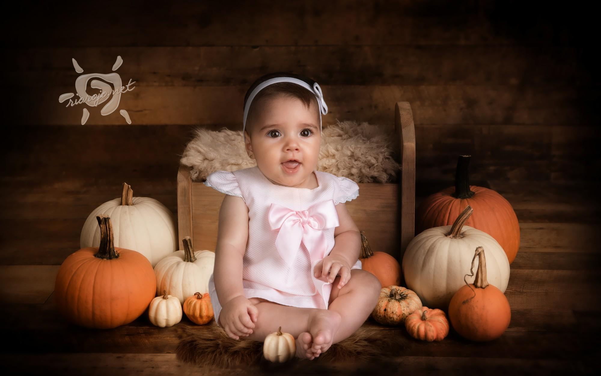otoño, Maria y las calabazas
