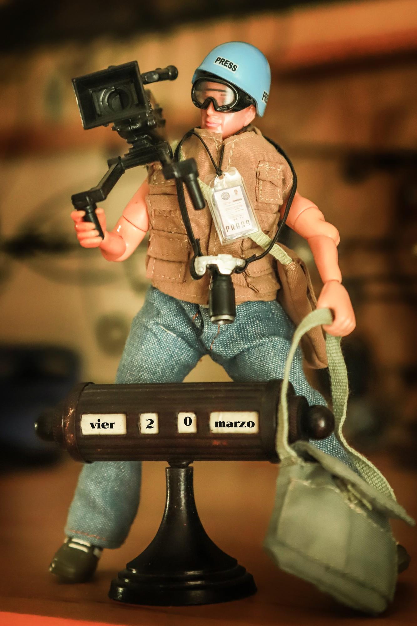 soldado prensa